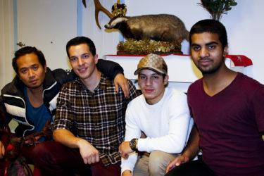 David, Bjørn, Zacaria og Haider fra Oslo Wild X